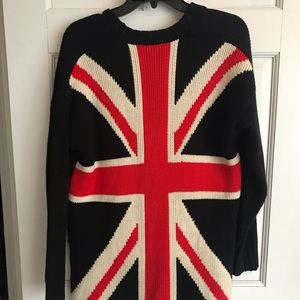 Forever 21 British Flag Cardigan